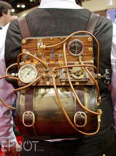 Steampunk backpack #Steampunk ☮k☮