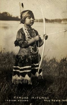 Indian Pictures: Young Pocahontas Indian Girl