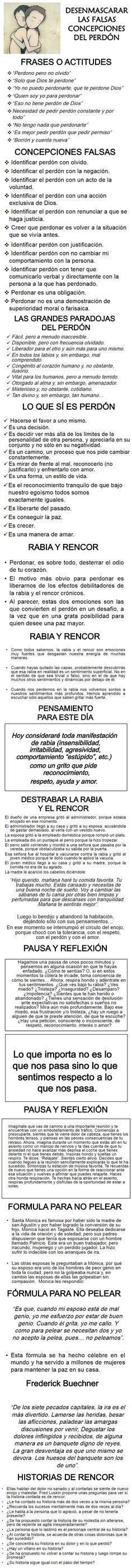 ... Desenmascarar las falsas concepciones del perdón.