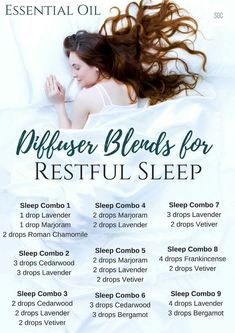 Essential Oil Diffuser Blends for Restful Sleep #aromatherapysleepblends