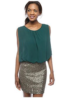 MM COUTURE by Miss Me Combo Top Sequin Skirt Dress #belk #dresswear