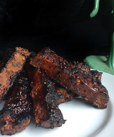 Vegan BBQ Ribs (Seitan) with Spicy Korean or Spicy Traditional BBQ Sauce