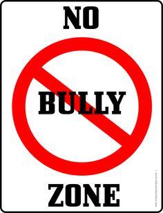 No Bully Zone Door Hanger | No Bullying, Don't Bully, Anti ...