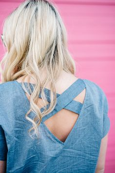 Chambray Love Letter — bows & sequins