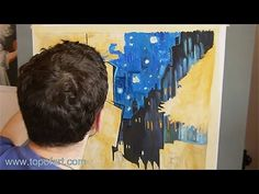 Art Reproduction (van Gogh - The Cafe Terrace, Arles) Hand-Painted Step by Step - YouTube
