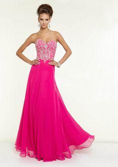 2015 Sleeveless Beading Sweetheart Zipper Fuchsia Green Chiffon Floor Length Evening / Homecoming / Prom Dress By Paparazzi 97127
