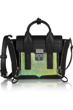 3.1 Phillip Lim                               The Pashli mini leather and iridescent trapeze bag