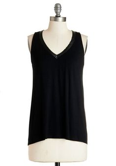 Silents, Please! Top. For tonights silent film festival, youve composed an encore-worthy ensemble around this sleeveless black top. #blackNaN
