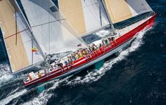 Whitbread maxi ketch Steinlager 2 at the Millennium cup 2015 New Zealand