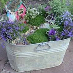 48 Fantastic Fairy Gardens for Your Yard ... - Gardening [ more at http://gardening.allwomenstalk.com ] Fairy gardens are all the rage right now and for good reason. They are a super cute little addition to your yard that won't take up much space, but that are really fun to put together. Like many things, the options are overwhelmingly huge in number, so seeing some up close can inspire you to get started. Here are some fabulous fairy ... #Gardening #Little #Cute #Clothesline #Fabulous…