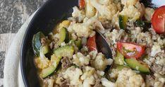 Blumenkohl-Zucchini-Gemüse mit Hackfleisch