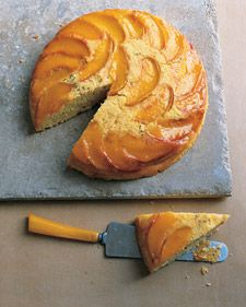 Peach and Cornmeal Upside-Down Cake - Martha Stewart Recipes