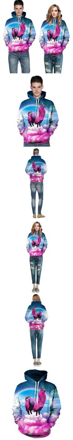 new 2017 Space galaxy hoody women/men printed animal sheep Sweatshirt Casual graphic hoodies funny Long-sleeved mens 3d hoodies