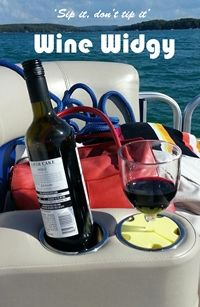 28 best Cool Boating Gear and Accessories images on Pinterest     Wine glass fits in cup holders with a Wine Widgy Perfect for boating