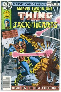 1978 Marvel Two In One #48 Comics The THING The JACK Of HEARTS War On Waterfront