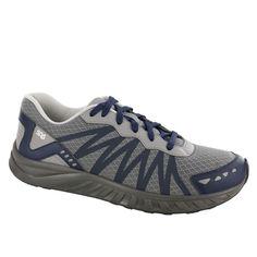 Men's Pursuit Lace Up Sneaker Gray / Navy - 10.5 / Double Wide