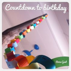 "Countdown to birthday! Makes it visual how many days are left. Loads of joy for the kids! | #birthday #countdown #verjaardag #aftellen | See more great crafts at Pinterest account ""kinderopvangnl"" 