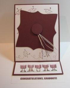 Cute graduation card idea Congratulations Graduate, Paper Crafts, Diy Crafts, Graduation Cards, Greeting Cards Handmade, Stamping, Card Ideas, Card Making, Scrapbooking
