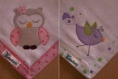 Kit Fralda de Boca com 02 unidades em tecido duplo (04 camadas para melhor absorção) 100% algodão com patch apliqué e bainha em tecido.  *As fraldinhas também podem ser personalizadas escolhendo o tema e a cor do tecido para montar o kit. R$ 32,90