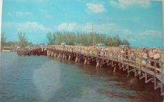 1950's-1960's St. John's Pass Bridge St. Petersburg, Florida NOS Postcard..