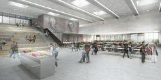 Darstellung einer modernen Schule von innen