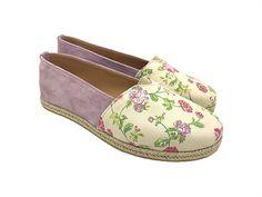 """Εσπαντρίγιες """"Little Flowers""""     Κωδ. 222063-F57S Women's Espadrilles, Little Flowers, Suede Leather, Fabric, Handmade, Shoes, Fashion, Tejido, Moda"""