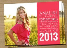 Graduation Announcement: PRINTABLE (2012 Graduation Announcement). $15.00, via Etsy.