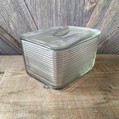 Clear Rectangular Dish with Lid Refrigerator Storage Casserole Baking Loaf Dish Bakeware Like Vintag