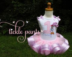 Daisy Duck Birthday Outfit- Pink and lavender purple- Includes top, ribbon tutu and hairbow- Can be made to match your party