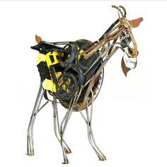 junkie.goat sculpture - by malen pierson
