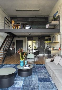 25 Amazing Interior Design Ideas For Modern Loft - GODIYGO.COM Loft is an extra space that looks like a second floor, but it is not eligible enough to be said … Loft Design, Design Case, Design Design, Attic Design, Condo Interior Design, Condo Design, Loft Interiors, Modern Interiors, Interior Modern
