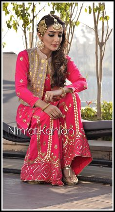 Indian Wedding Fashion, Indian Wedding Outfits, Indian Outfits, Indian Fashion, Fashion Art, Dress Indian Style, Indian Dresses, Indian Wear, Punjabi Suit Simple