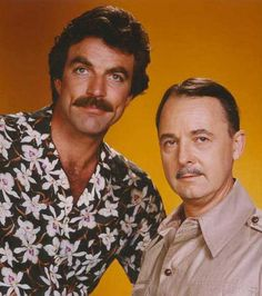 Tom Selleck in Magnum. Great shirt. Someone else, as well.