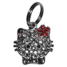 Pingente Hello Kitty Flor Vermelha São Pet - MeuAmigoPet.com.br #petshop #cachorro #cão #meuamigopet