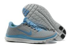 Womens Nike Free Wolf Grey University Blue Shoes Nike Free Run 3 - Cheap Nike Running Shoes, Free Running Shoes, Nike Free Shoes, Cheap Shoes, Nike Air Max For Women, Nike Women, Nike Free 3.0, Discount Nike Shoes, Nike Tn