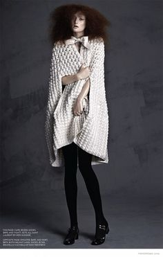 Sophie Models Luxe Knitwear for FASHION by Gabor Jurina