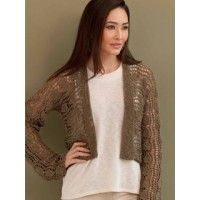 This might be my wedding cardi in white or blue.  Stacey Hi-Lo Cardigan in Nina | InterweaveStore.com