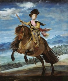 Velázquez, Diego Rodriguez Prince Balthasar Carlos on Horseback 1635	Oil on canvas, 82 1/16 x 68 1/16 in	Museo del Prado, Madrid, Spain