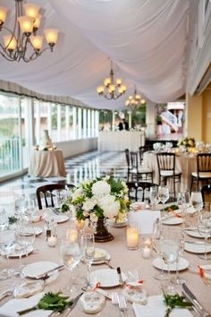 Gray And white reception decor | photography by http://www.jenniferdery.com/