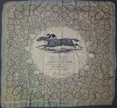 Silk scarf of Derby winners from commencement to winner 1927