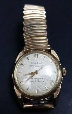 396c37a04 Vintage Bulova 23 JEWEL Mens Self WINDING Wrist Watch for sale online | eBay