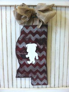 SEC State Outline Team Spirit Door Hanger by OakOriginals on Etsy, $48.00
