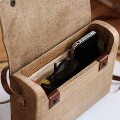 Cool wooden handbag