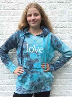 Love LACROSSE Tie Dye Hoodie Girls Lacrosse, Tie Dye Hoodie, Hoodies, Sweatshirts, Sport, Sweaters, Blue, Dresses, Fashion