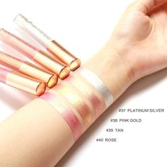 Only $1.57 , FOCALLURE Liquid Matte Lipstick Diamond Makeup Lipstick Metallic Lip Gloss Stick Long Lasting Lipstick
