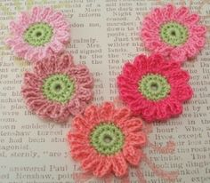 crocheted flowers by dimitra.dimitriadou.16