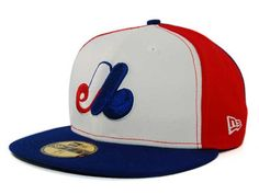 Montreal Expos New Era MLB Cooperstown Hats. I like Expos hats because they have an M and wearing them doesn't conflict with my SF Giants fandom. 59fifty Hats, New Era 59fifty, New Era Fitted, Funny Hats, New Era Hats, Fitted Caps, Swagg, Caps Hats, Montreal
