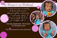 bubble theme invitations