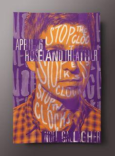Noel Gallagher Silkscreen Type Poster on Behance (Alexandre Fontes)