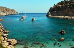 Antony Quinn Bay - Rhodes, Greece I have been here and it's amazing! Beautiful spot for honeymooning! Places Around The World, Oh The Places You'll Go, Places To Travel, Travel Destinations, Places To Visit, Around The Worlds, Greece Rhodes, Places Worth Visiting, Future Travel